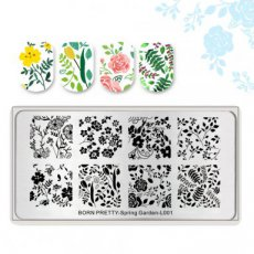 Stamping plate Spring Garden-L001
